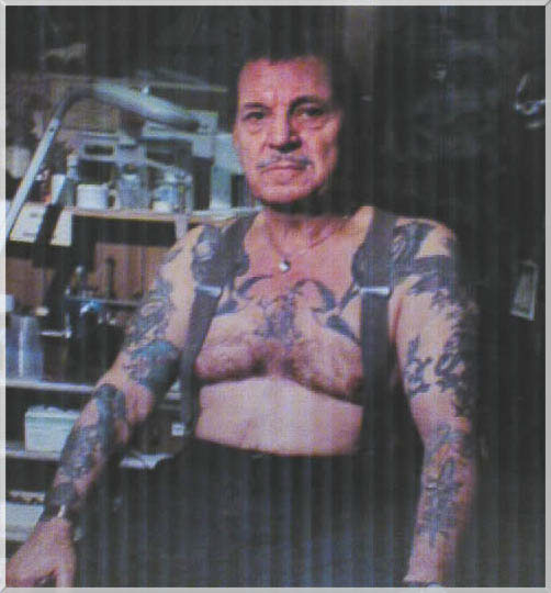 Old Man Savini still tattooing in his Coraopolis studio with over 52 years